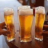 Foxglove - Set di bicchieri da birra, in acrilico, 4 in 1, per feste, compleanni, bevande, birra, set da 4