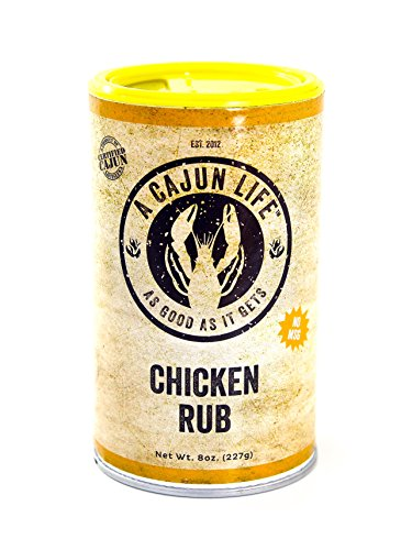 A Cajun Life Chicken Rub Seasoning   Authentic Certified Cajun Chicken Rub, Non-GMO, No MSG, Gluten Free Chicken Seasoning Mix That's Great On Everything Poultry!