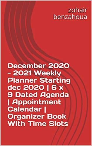 December 2020 - 2021 Weekly Planner Starting dec 2020 | 6 x...