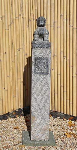 Asien Lifestyle Pagode de dragon chinois en pierre naturelle 152 cm