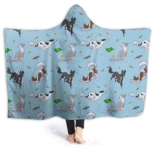maichengxuan Manta con Capucha 3D Frolicking Silkens Super Soft Sherpa Fleece Blanket 50'x40'