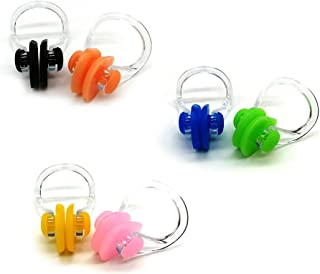 Zooshine 6-in-1 Waterproof Swimming Nose Clips Nose Plugs Nose Protector for Swimming Adults Kids