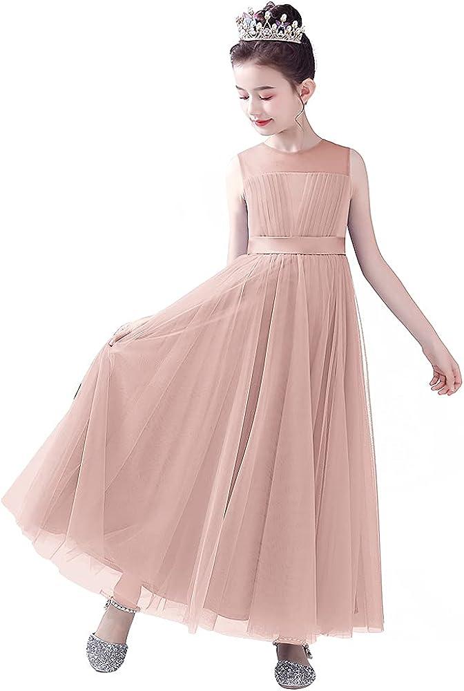 Elegant Flower Girl Dresses Junior Bridesmaid Formal Wedding Kids Girls' Translated
