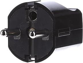 Bachmann Centrale stekker beschermend contact, 910170 zwart