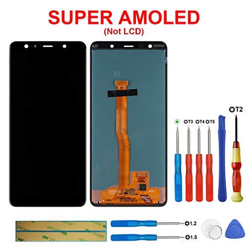 Swark Display LCD Compatible con Samsung Galaxy A7 2018 A750 Negro Pantalla tactil digitalizador Cristal sin Marco de Montaje + Herramientas