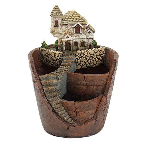 Oneriverspring40 Plant Pot Mini Huis Beeldjes Hars Bloemenpot Voor Kruiden Cactusplanten Planter Thuis Tuin Micro- Landschap Decor Ambachten