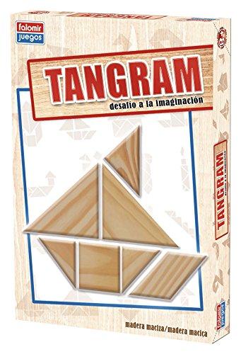 Falomir Tangram Madera, Juego de Mesa, Educativo (646484) , color/modelo surtido