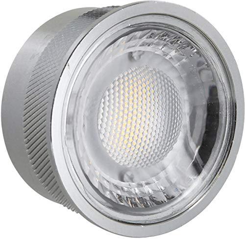 Slim LED COB Aluminium Modul 230V Dimmbar -5W 400lm 60° - Einbautiefe 26mm - Ersatz für MR16 GU10 - für geringe Deckenhöhen - warmweiß (3000 K)
