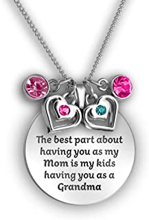Grandma Gifts and Mother Daughter Necklace - Quote and Charm Necklaces with Meaning