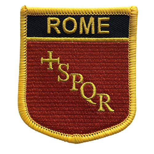 Rome Flag Shield City Patch / Cities of Italy Crest Badge (Rome #1)