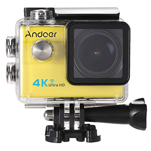 Andoer 2.0'LCD 4K WiFi Ultra HD Sport Azione 16MP 25FPS 1080P 60FPS 4X Zoom 25mm 173 Degree Wide-Lens Impermeabile 30M dell'automobile DVR DV Cam