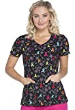 Dickies EDS V-Neck Scrub Top, L, Hopeful Hearts