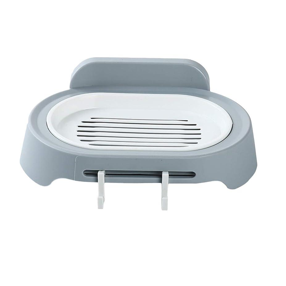 理由海里ブルジョンZALING 灰色のホックが付いているの浴室の石鹸の貯蔵の吸引の壁に取り付けられた石鹸のオルガナイザー