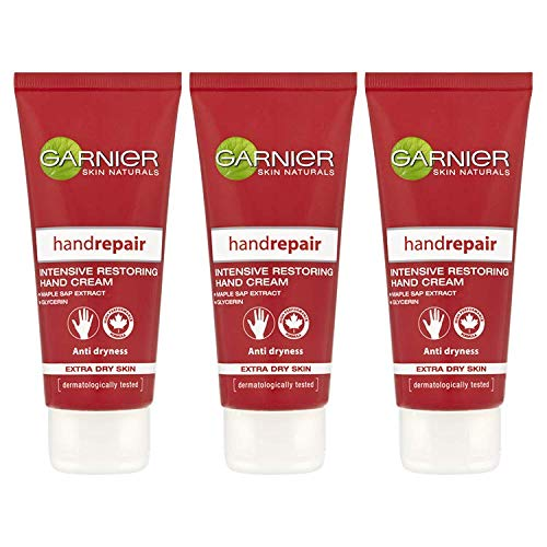 Garnier Body Repair Handcreme, trockene Haut, 100 ml, 3er-Pack