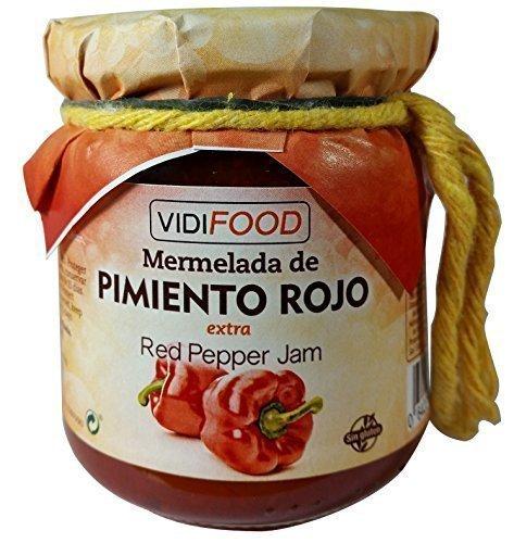 Mermelada Extra Artesanal de Pimiento Rojo - 210 g - Procedente de España - Casera, de Alta Calidad & 100% Natural - Amplia Variedad de Deliciosos Sabores