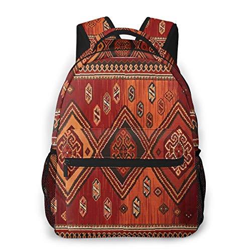 Rucksack Männer Und Damen, Laptop Rucksäcke für 14 Zoll Notebook, Persischer Wollteppich Kinderrucksack Schulrucksack Daypack für Herren Frauen