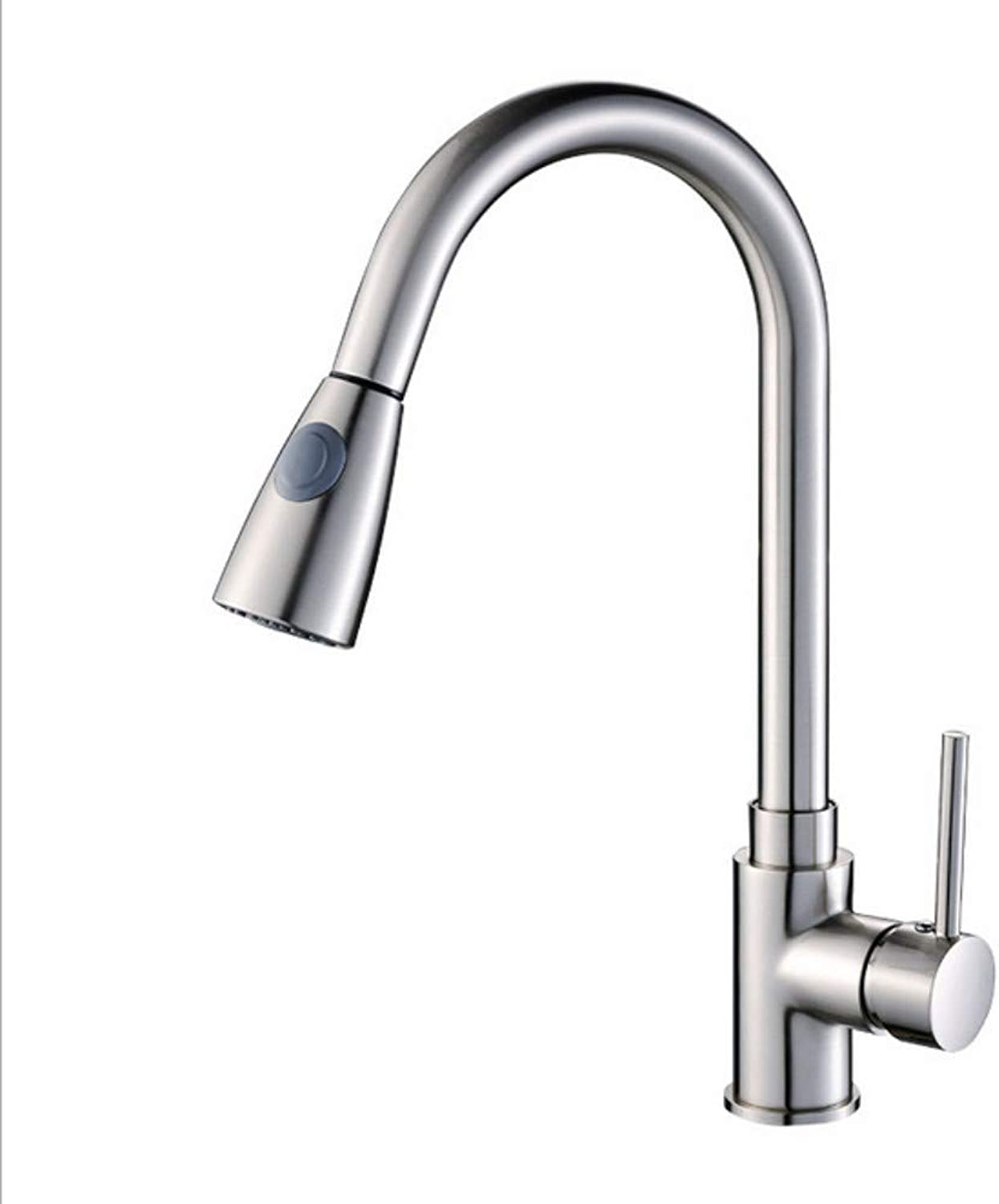 Xiujie Faucet Kitchen Faucet, Brushed Faucet, Hot and Cold Faucet, Sink Faucet
