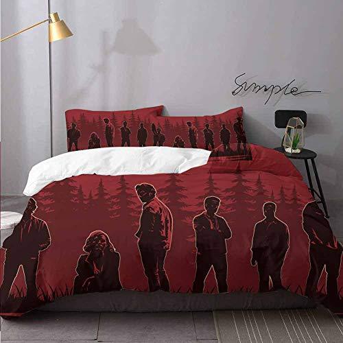 WomHouse Juego de ropa de cama de 3 piezas para cama de California King (1 funda de edredn + 2 fundas de almohada).