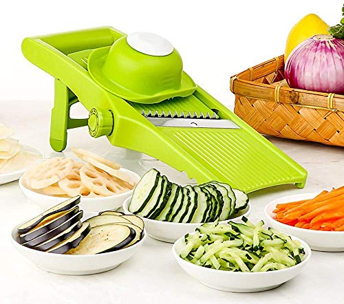 KEOUKE Mandoline Slicer Vegetable Shredder  Adjustable Blade Slicer for Lemon Potato Cucumber Orange Cheese French Fries