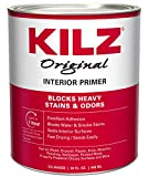 KILZ Original Multi-Surface Stain Blocking Interior Oil-Based Primer (Low VOC Formula) White, 32 Fluid Ounces