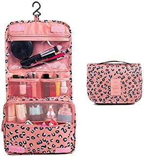 Toiletry Bag,TERSELY Portable Hanging Travel Makeup Organizer Folding Pouch Toiletry Cosmetic Bag with Hanging Hook And Strong Zippers,Folded with Multiple Bags, Waterproof, Durable For Vacation