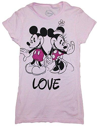Disney Juniors Mickey y Minnie Mouse Slim Fit–Camiseta para hombre