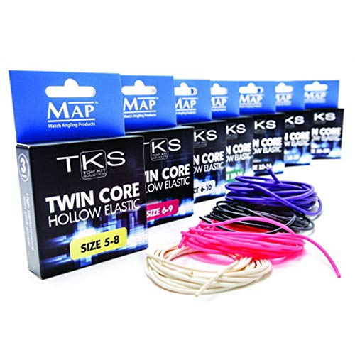 MAP TKS Twin Core Hollow Pole Elastic Size 6-10 (White)
