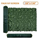 TANG by Sunshades Depot 58' x 136' inch Artificial Faux Ivy Privacy Fence Screen Leaf Vine Decoration Panel with 130 GSM Mesh Back