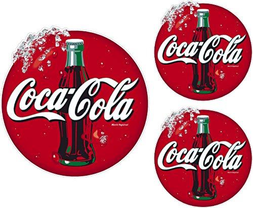 Coca Cola Aufkleber-Set – Coke Aufkleber für Catering, Eis, Van, Café, 1 x 180 mm, 2 x 100 mm (SS10019)