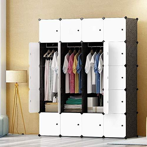 Tragbarer Schuh-Organizer ohne Marke, DIY, tragbarer Kleiderschrank, modularer Stauraum, Organizer, platzsparend, tiefer Würfel mit Kleiderstange, 20 Würfel