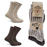 MOUNTREX Alpaka Socken, Wollsocken für Damen