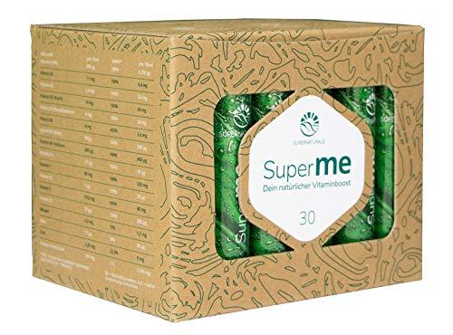 SUPERNATURALS SuperME® natürlicher Vitaminboost vegan   30 Trinkflaschen   Vitamine, Mineralstoffe, Omega-3-Fettsäuren   Immunsystem Unterstützung   hergestellt in Deutschland   IFS zertifiziert