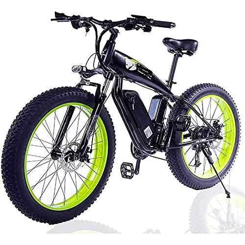 CDPC Bicicleta eléctrica, Bicicleta eléctrica con neumáticos gordos para Adultos, con batería extraíble de Iones de Litio de Gran Capacidad (48 V 500 W) 26 Pulgadas, Bicicleta eléctrica de 27 Vel