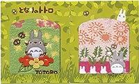 丸眞 タオル プチギフト ジブリ となりのトトロ ミニタオル 2枚 花とともに イエロー&ふわふわたんぽぽ ピンク 1105017200