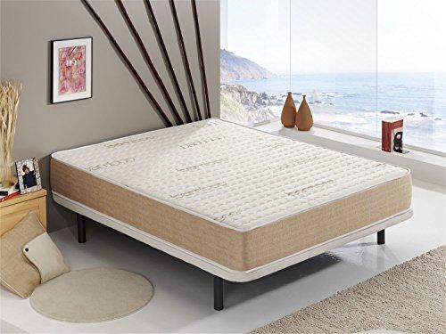 Colchón Visco Bamboo® 150x190 cm Altura +/- 18 cm - Espumación ViscoSoft - Fibras Naturales Hipoalergénicas - Terapia Relax - Acolchado con Tejido Bamboo - Libre de sustancias nocivas ✅