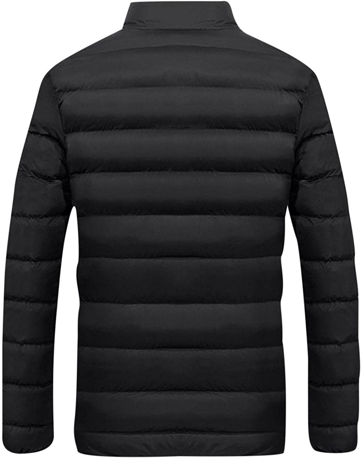 PHSHY Men's Lightweight Hooded Puffer Jackets Casual Slim Fit Thick Thermal Parka Coats Stand Collar Packable Overcoat