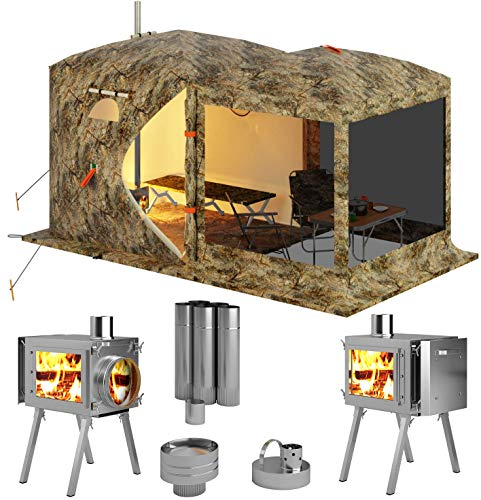 Russian-Bear Hot Tent with Stove Pipe Vent. Hunting Fishing Outfitter Tent with...