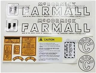 Farmall Super C Decal Kit