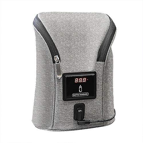 Car Mounted baby bottle warmer Bag, Outdoor Portable Double Bottle Hot Milk Bag for Car Travel Camping, 23 * 8 * 20cm