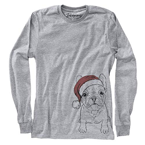 Inkopious Christmas PuppyPierre The French Bulldog Women's Long Sleeve T-Shirt 2XL Grey