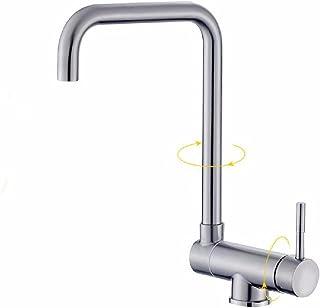 304 acero inoxidable cocina caliente y fría grifo rotación plegable orificio único ventana interna anti-fregadero grifo de lavabo corto