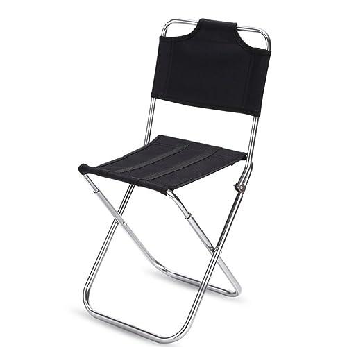 Portátil Plegable Camping Silla, al aire libre Barbacoa mini con apoyabrazos respaldo Aluminio Taburete para