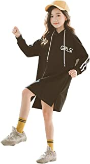 Girls Sweatshirt Long Shirt Hoodie Dresses