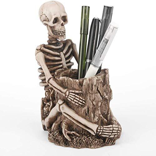 Schädelstift Bleistifthalter Skelettschlüsselhalter Make-up Pinselhalter Home Office Schreibtischzubehör Organizer Zubehör