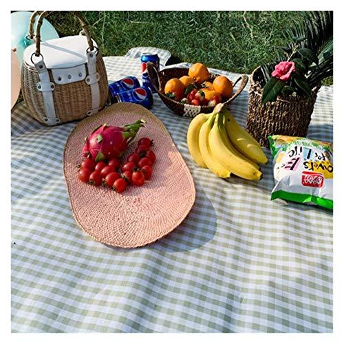 OH 2M * 1.5M Mat de Picnic Al Aire Libre Camping Picnic Mat Impermeable Picnic Mats Matters Colchoneta Camping Mats Play Mats Plaid Manta, Manta de Picnic profesional/Green Grid /