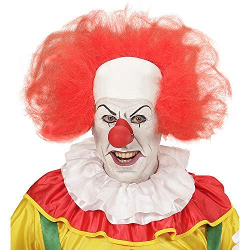 Widmann Clown Cap met rood haar voor volwassenen, eenheidsmaat, VD-WDM74950