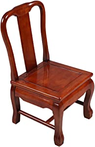 Stool Solid Wood Small Chair Backrest Child Chair Small Dining Chair Sofa Chair Home Shoe Bench Tiger Foot Chair Strong and Sturdy (Color : Pear Color, Size : 363968CM)