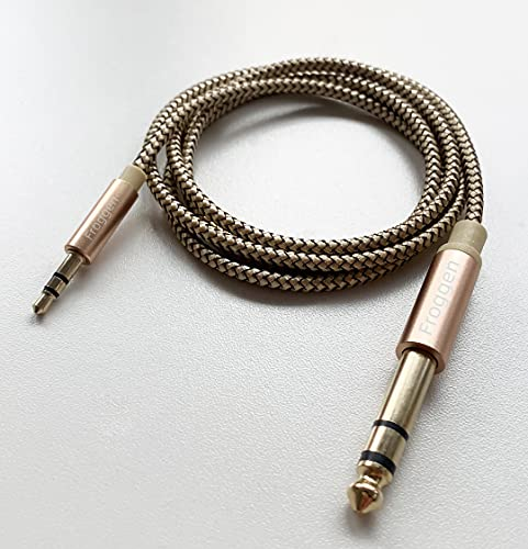 Cable de 6.35mm a 3.5mm, Froggen Cable Jack 3.5mm a 6.35mm Macho...