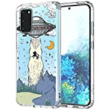 MOSNOVO UFO Case for Samsung Galaxy S20, Clear Design Transparent Plastic Hard Back Case with TPU Bumper Protective Case Cover for Samsung Galaxy S20