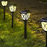 Solpex Solar Pathway Lights Outdoor, LED Solar...